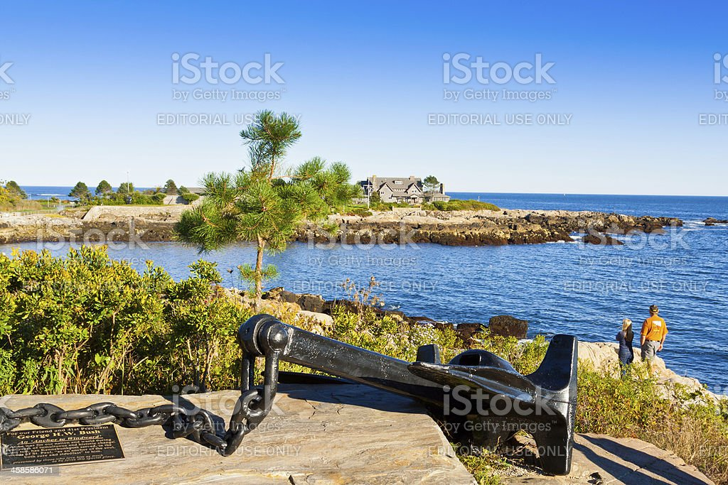 President Bush compound, Kennebunkport, Maine. stock photo
