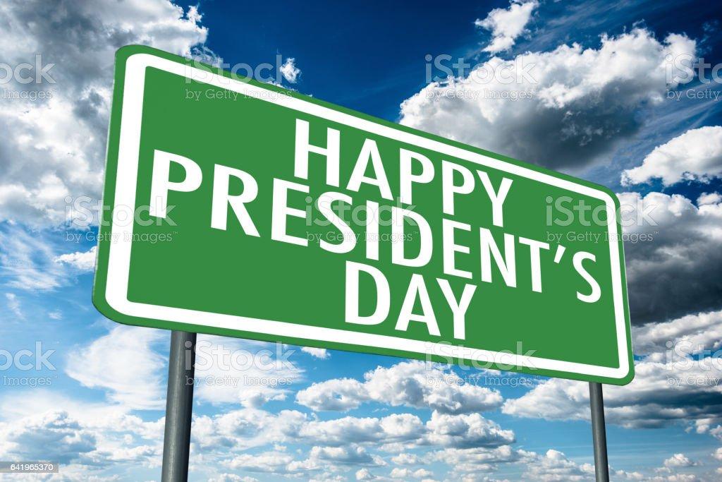 president day street sign stock photo