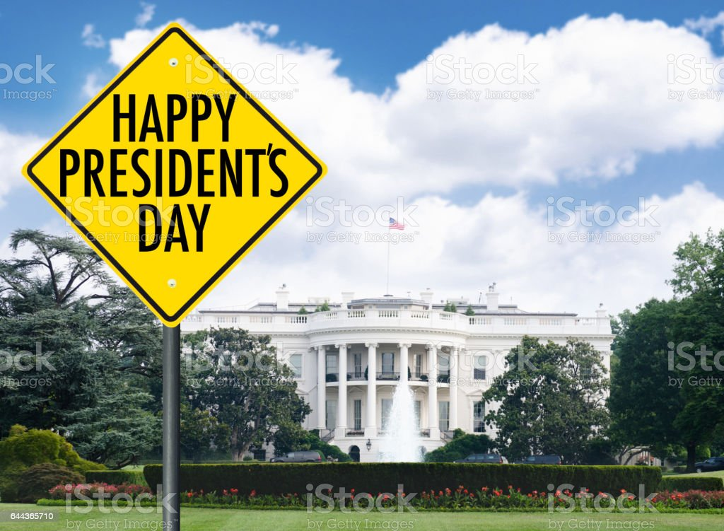 president day street sign stock photo