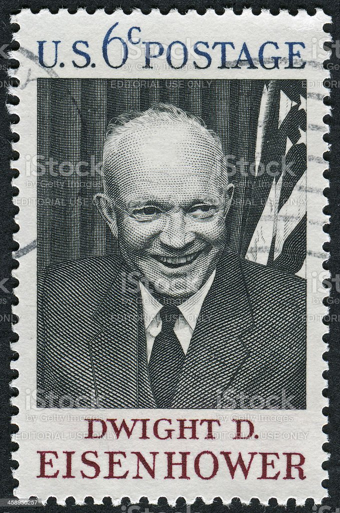 President Dwight D. Eisenhower Stamp stock photo