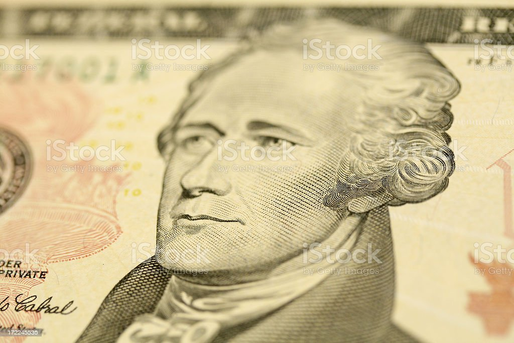 President Hamilton royalty-free stock photo