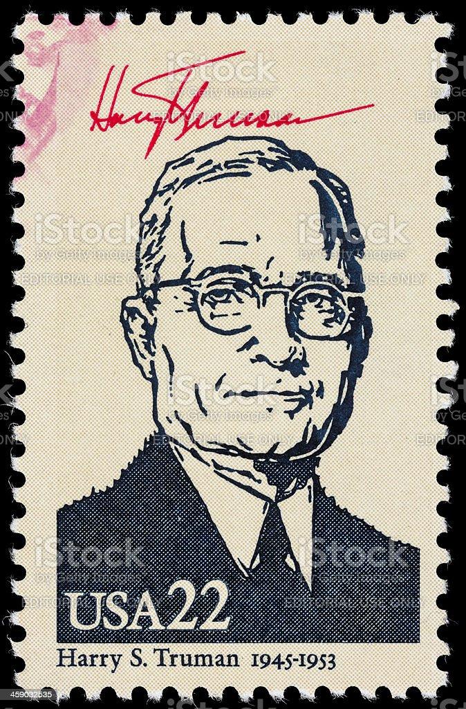 USA President Harry S. Truman postage stamp stock photo