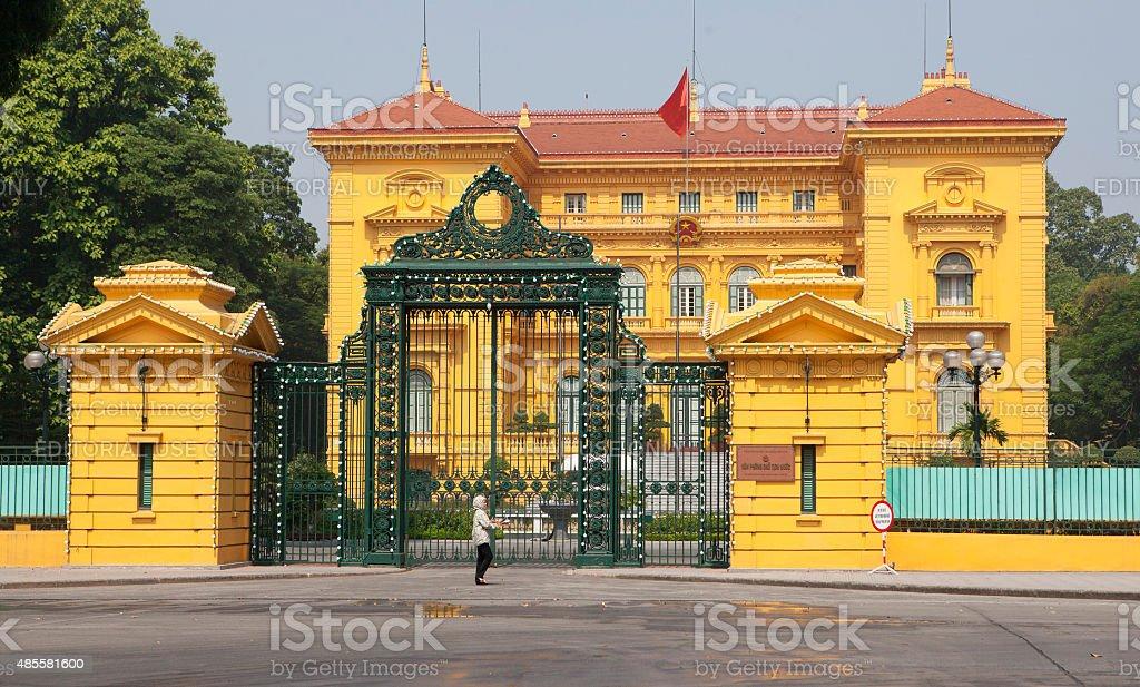 President House of Vietnam in Hanoi capital stock photo