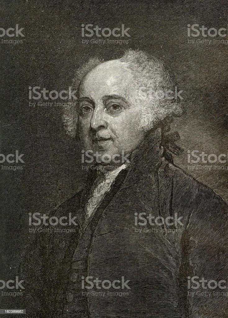 President John Adams Engrave royalty-free stock photo