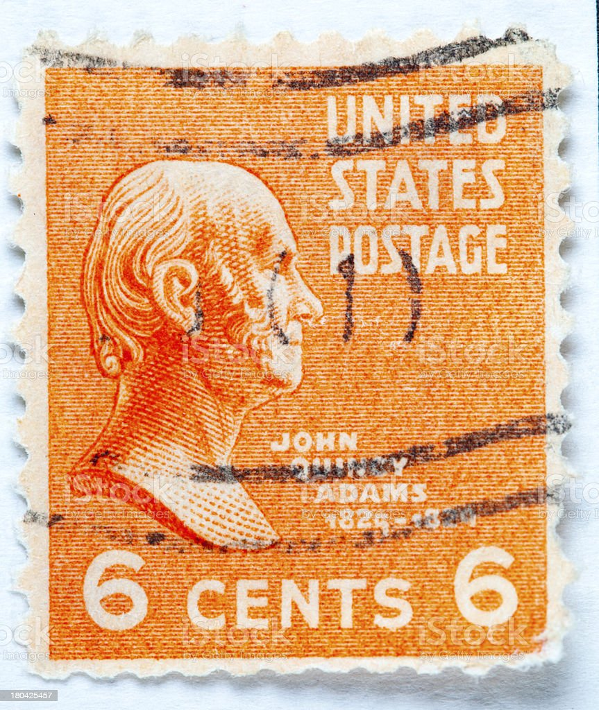 President John Quincy Adams Postage Stamp stock photo