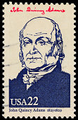 USA President John Quincy Adams postage stamp