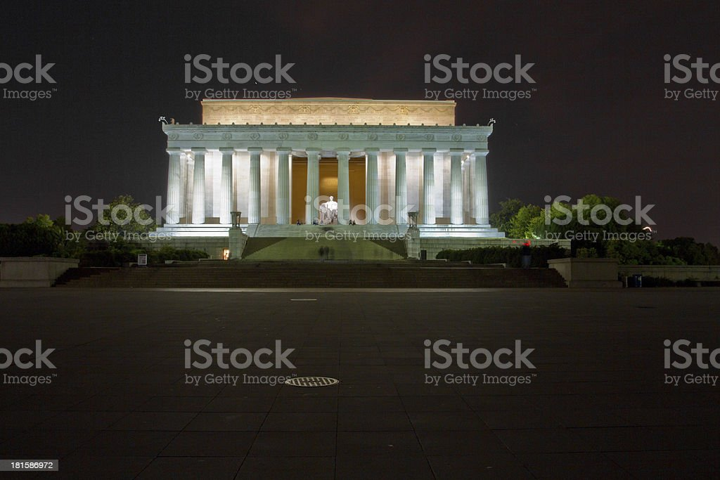 President Lincoln Memorial in Washington DC royalty-free stock photo