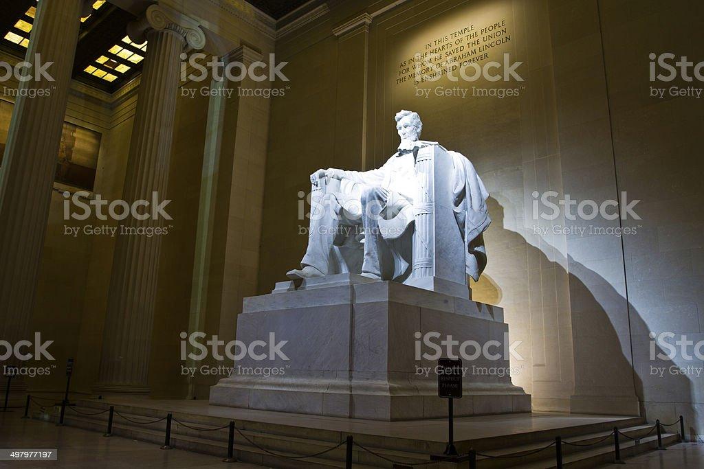 President Lincoln Memorial in Washington DC stock photo