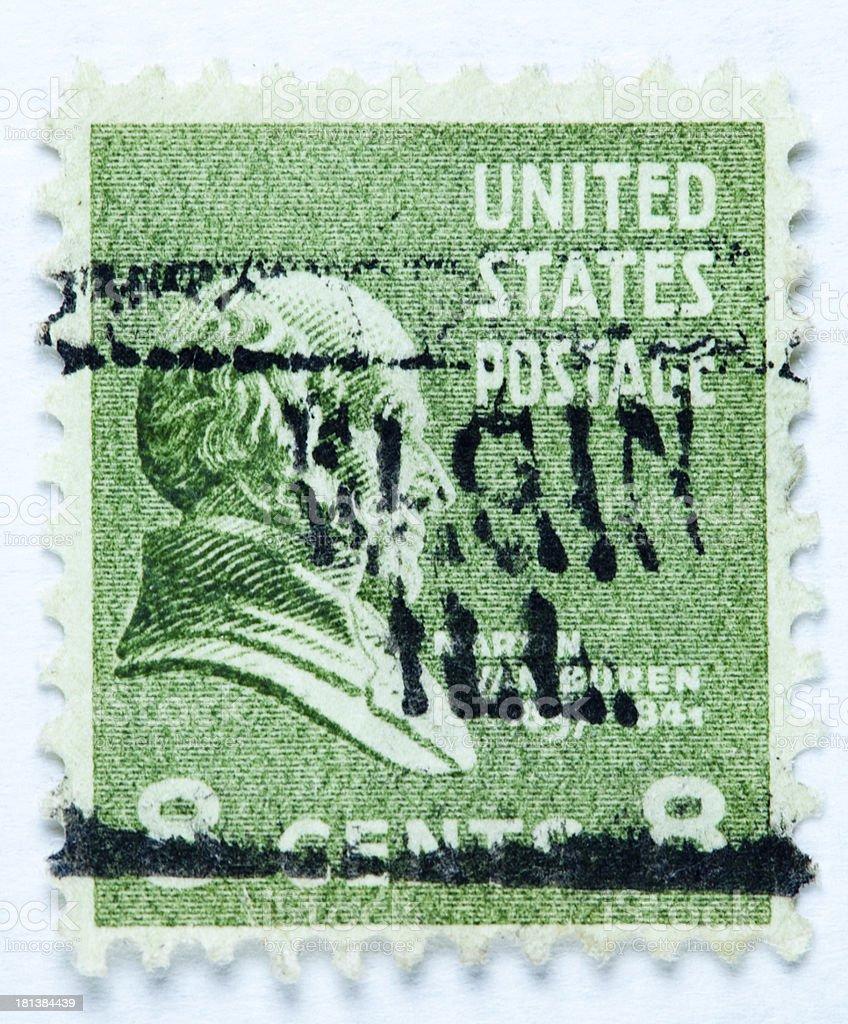 President Martin Van Buren postage stamp royalty-free stock photo