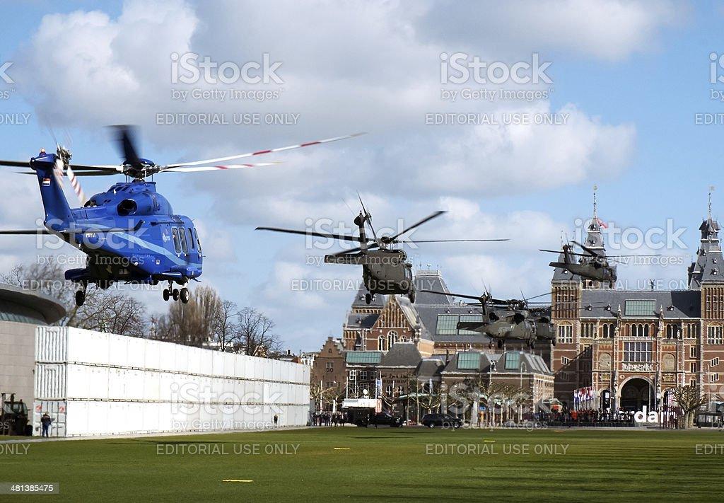 President Obama's visit to the Rijksmuseum royalty-free stock photo