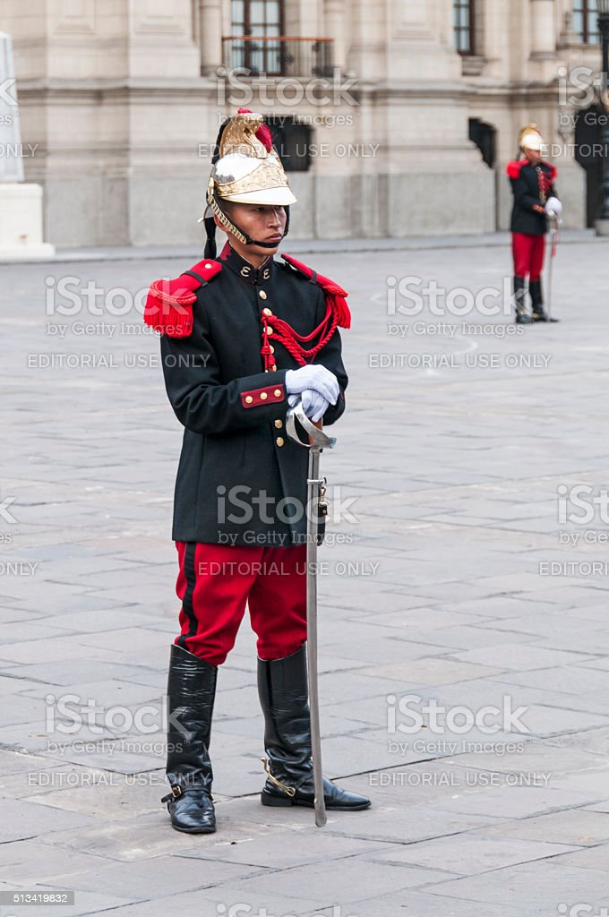 President Palace Guards stock photo