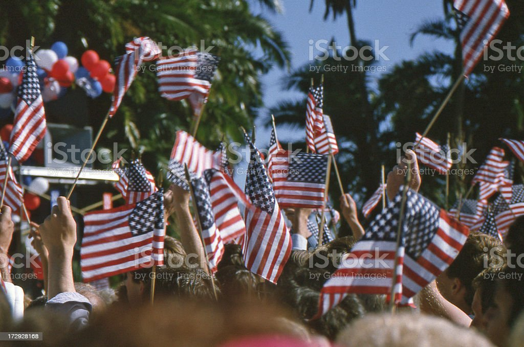 Presidential Campaign Trail stock photo