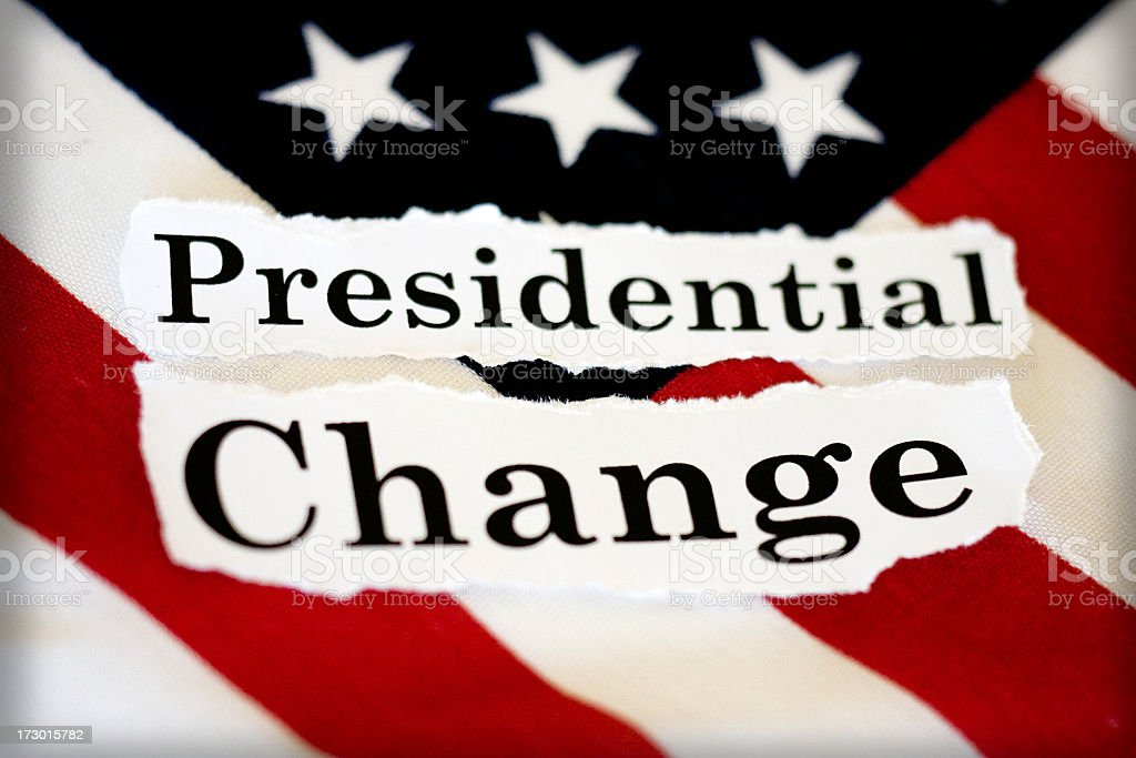 presidential change stock photo