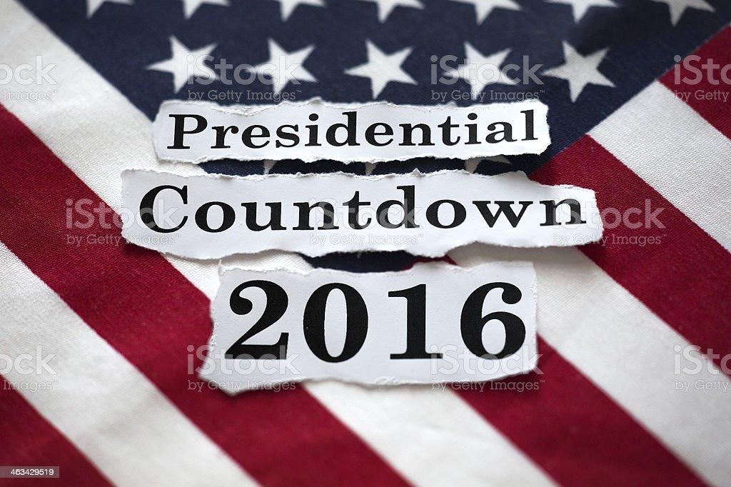 Presidential Countdown 2016 stock photo