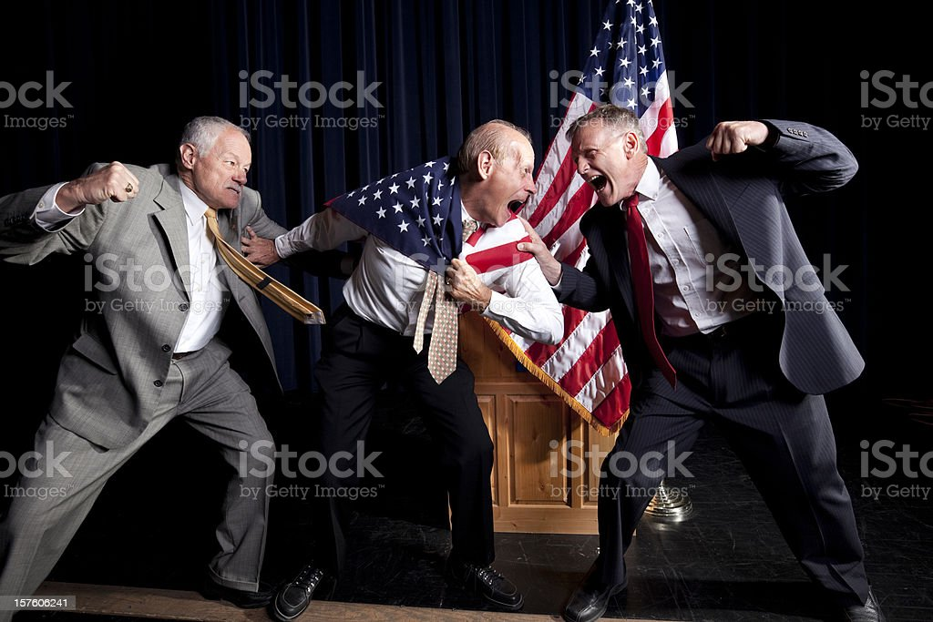Presidential debate stock photo