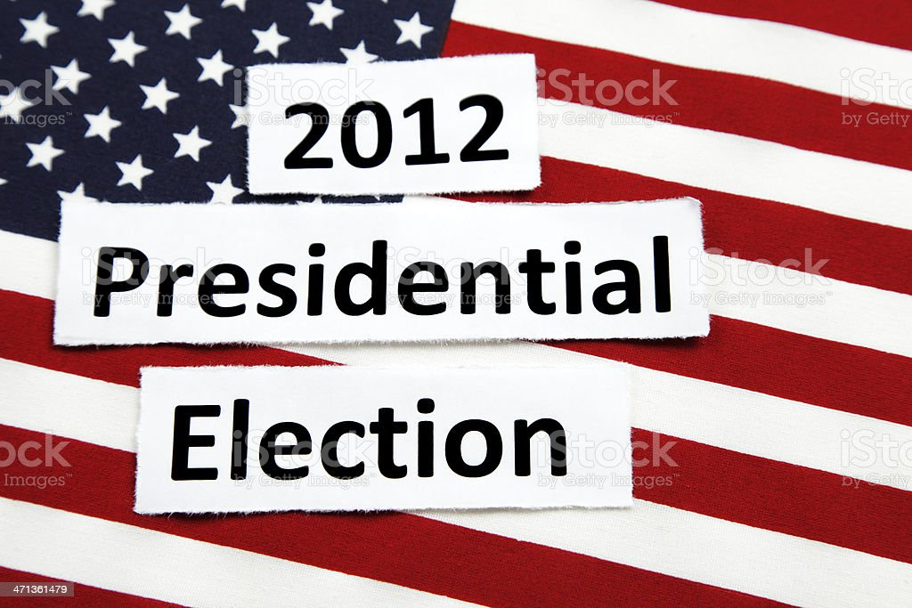 Presidential Election 2012 stock photo