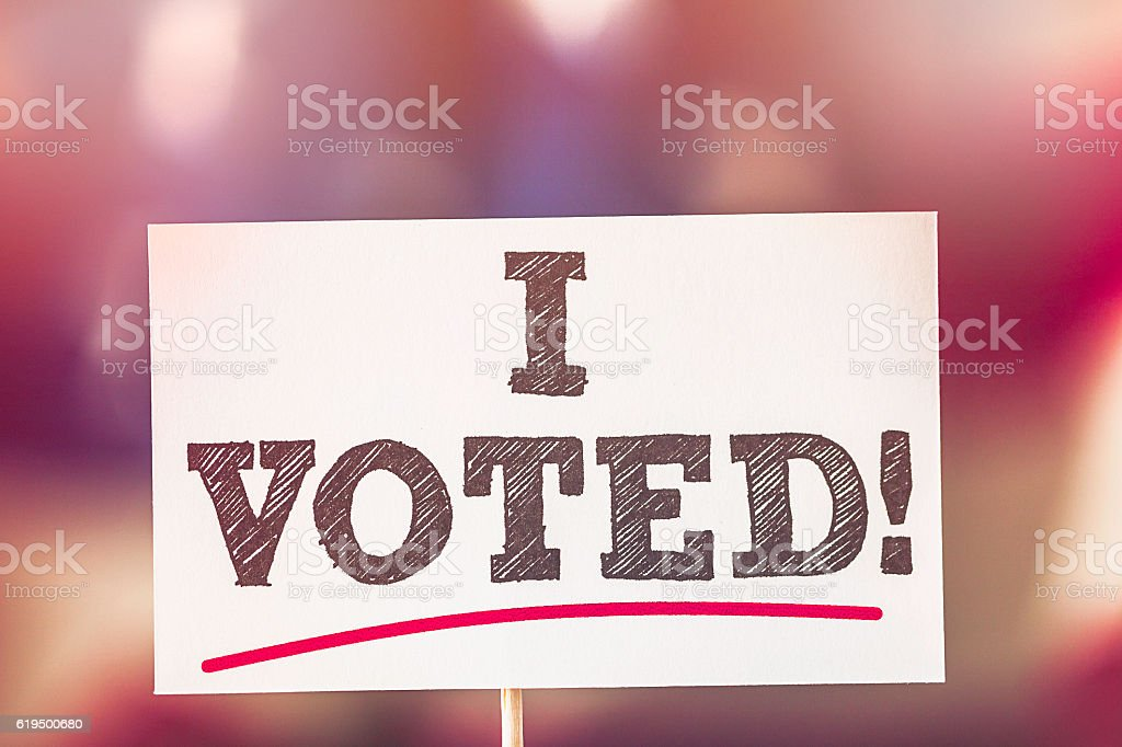 USA Presidential Election 2016. I VOTED! stock photo