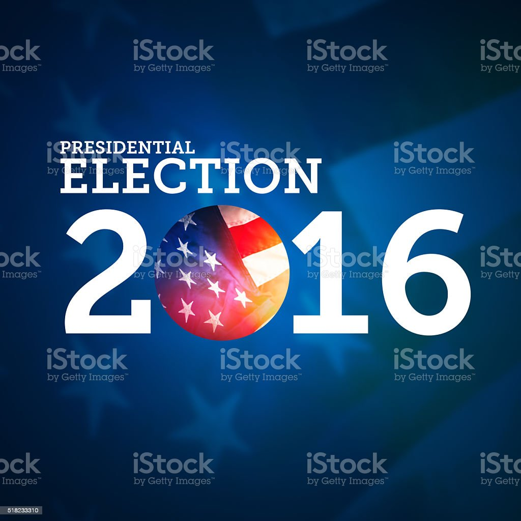 Presidential Election Background stock photo