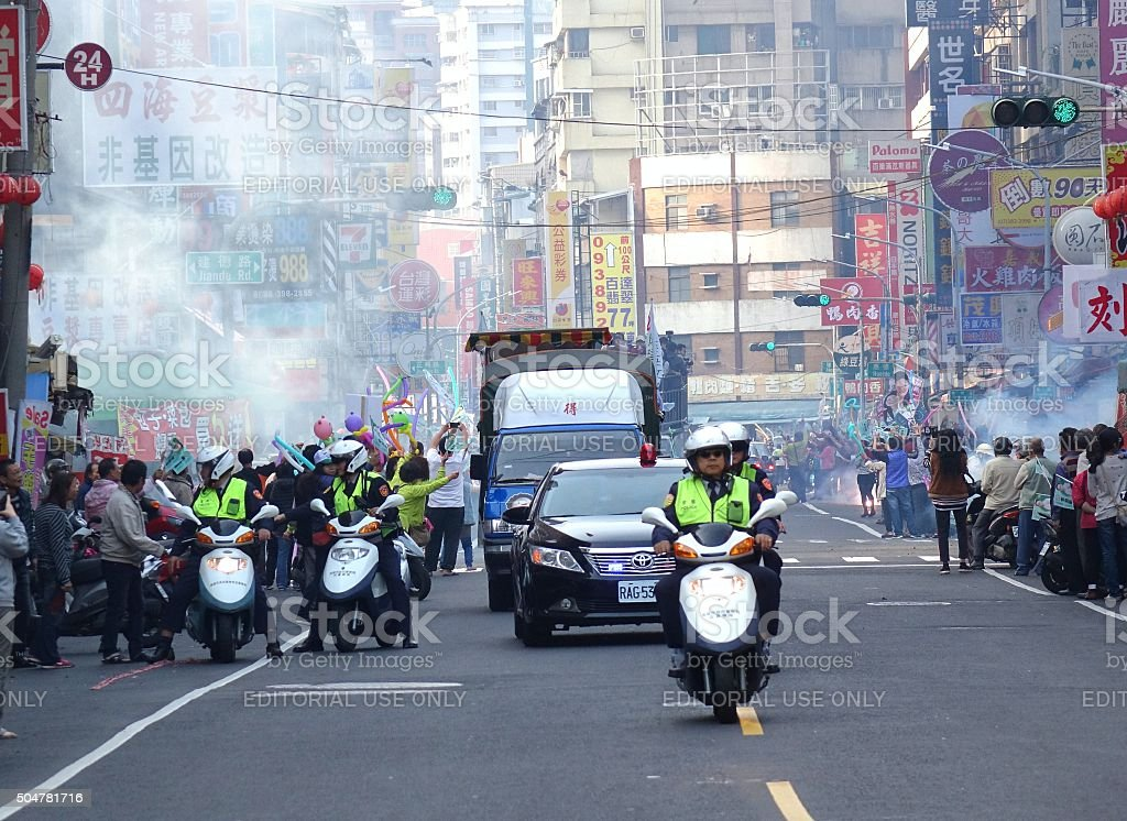 Presidential Election Campaign in Taiwan stock photo