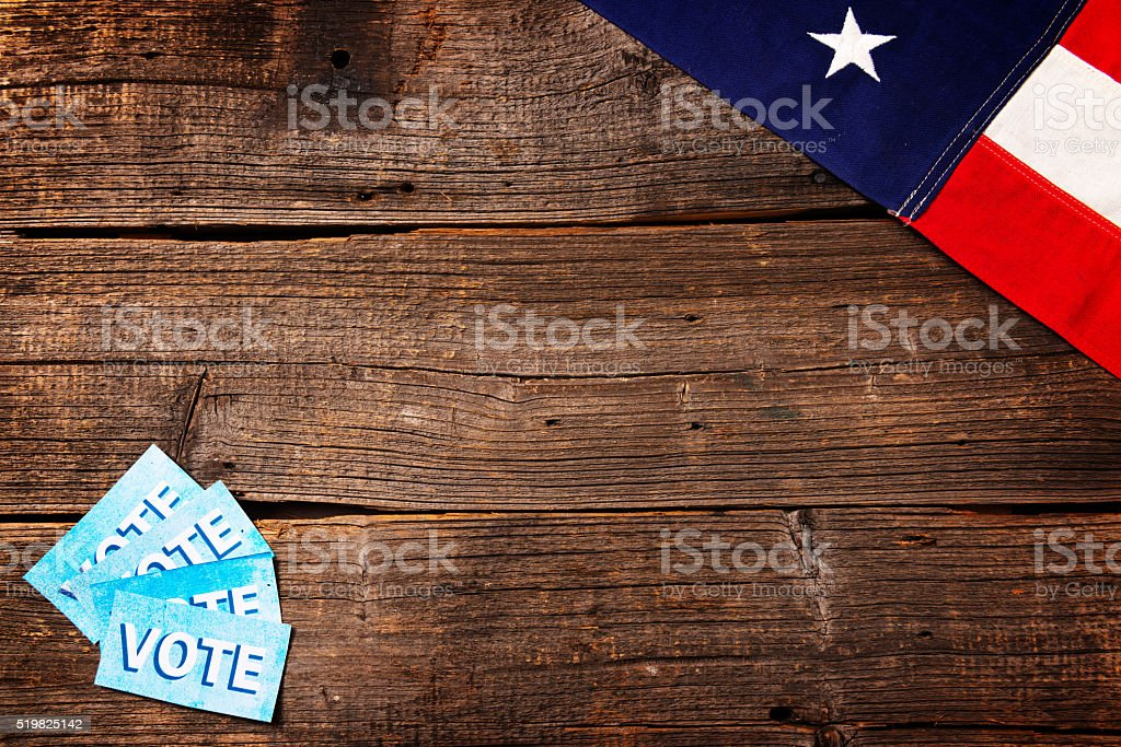 Presidential Election Composition stock photo