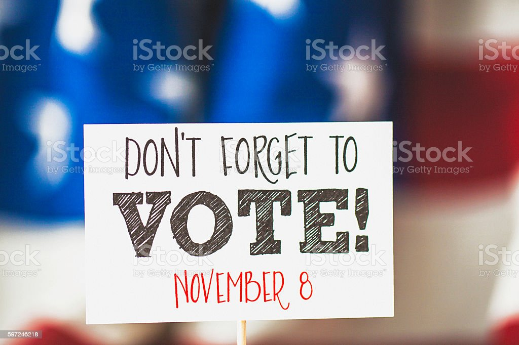 USA Presidential Election Date: Don't Forget to Vote! stock photo