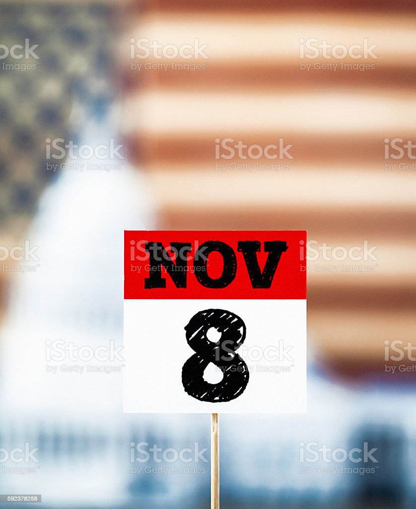 USA Presidential Election Date: November 8 stock photo