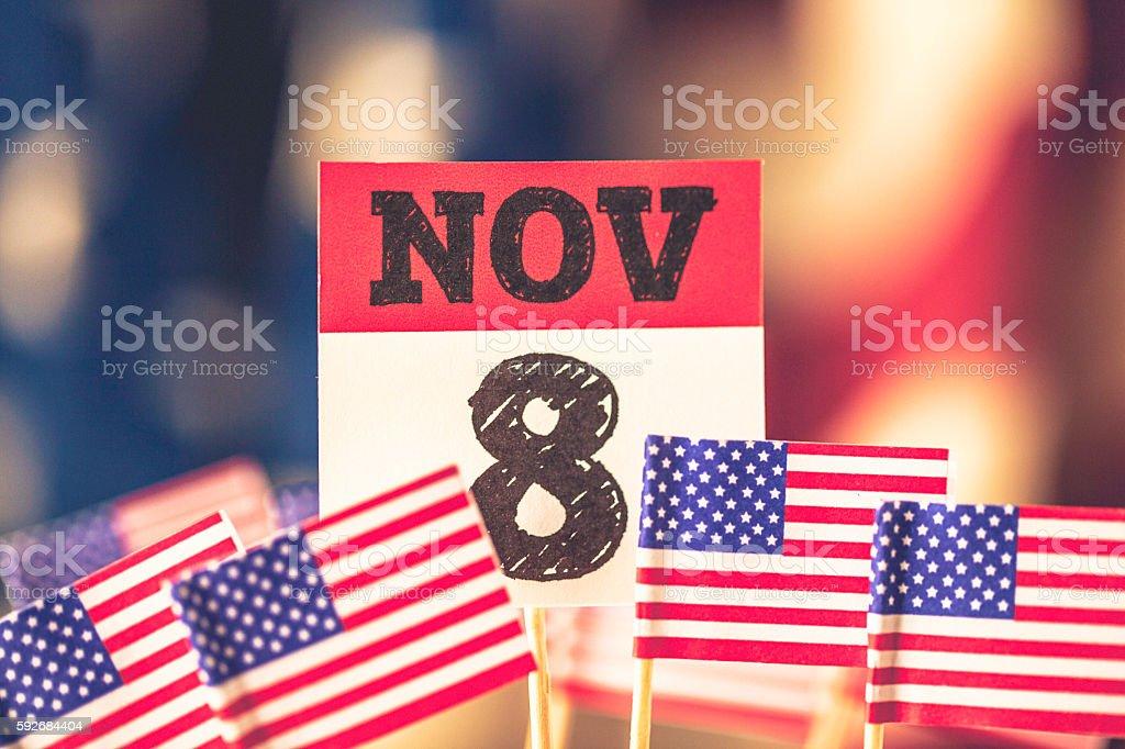 USA Presidential Election Date: November 8 stock photo