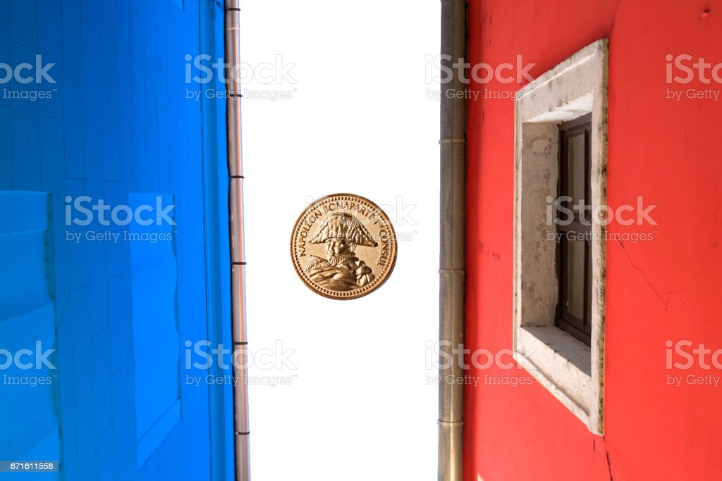 Presidential election day background. French elections 2017 stock photo