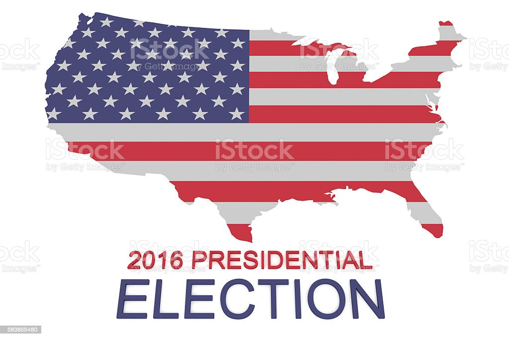 Us Presidential Election Stars And Stripes Us Map - Stars map from us