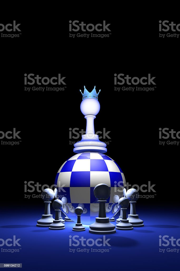 Presidential elections. The new ruler. (chess metaphor). 3D stock photo