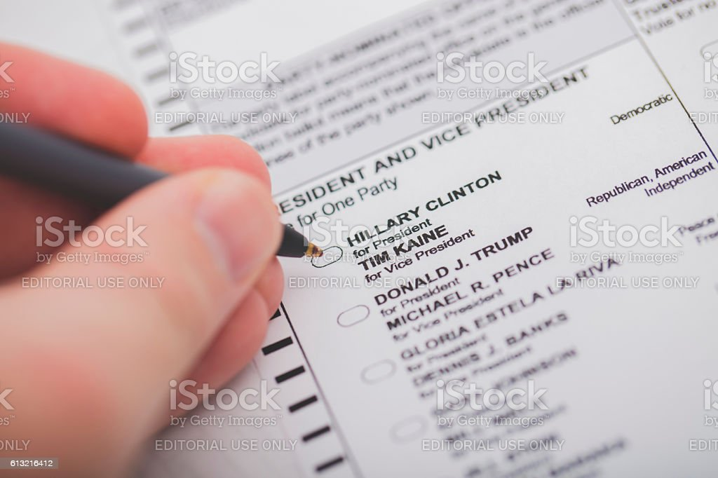 Presidential General Election 2016 stock photo