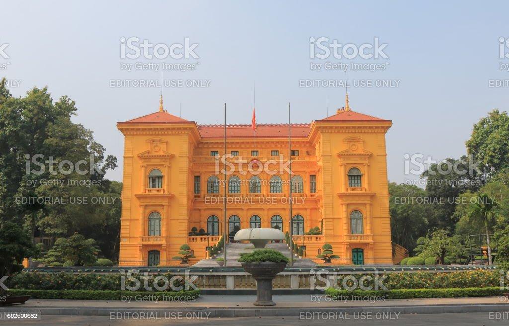 Presidential house Hanoi Vietnam stock photo