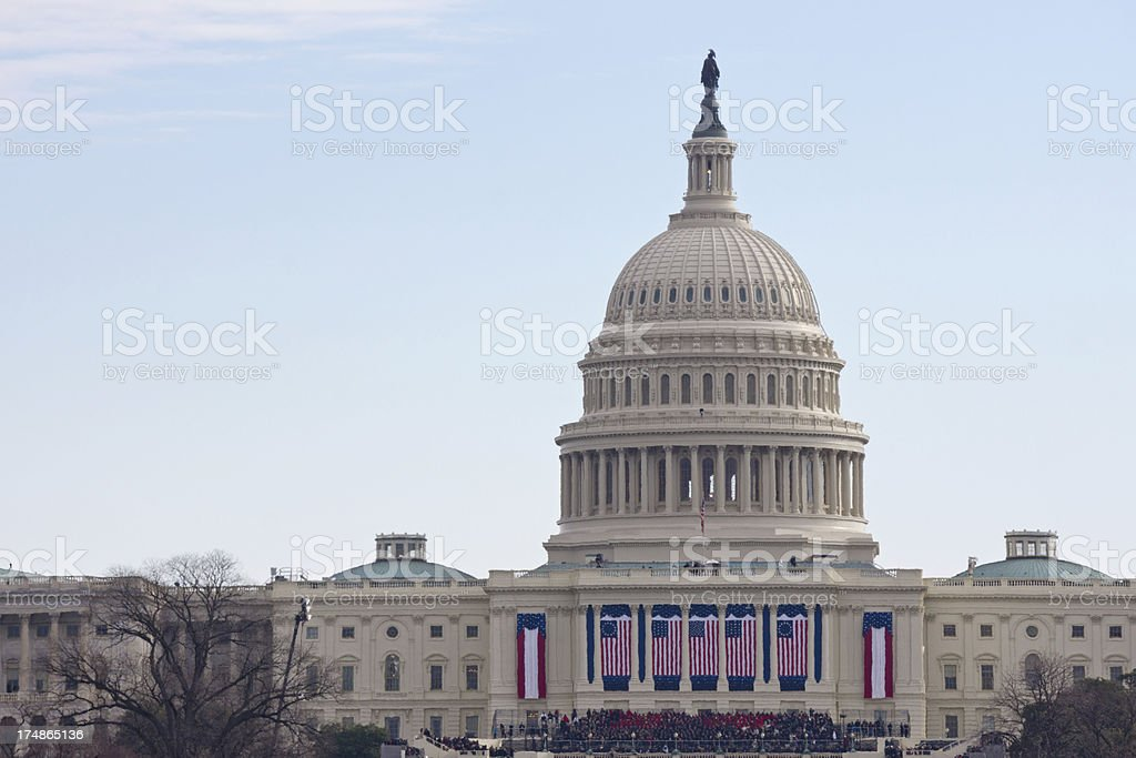 2013 Presidential Inauguration of Barack Obama stock photo