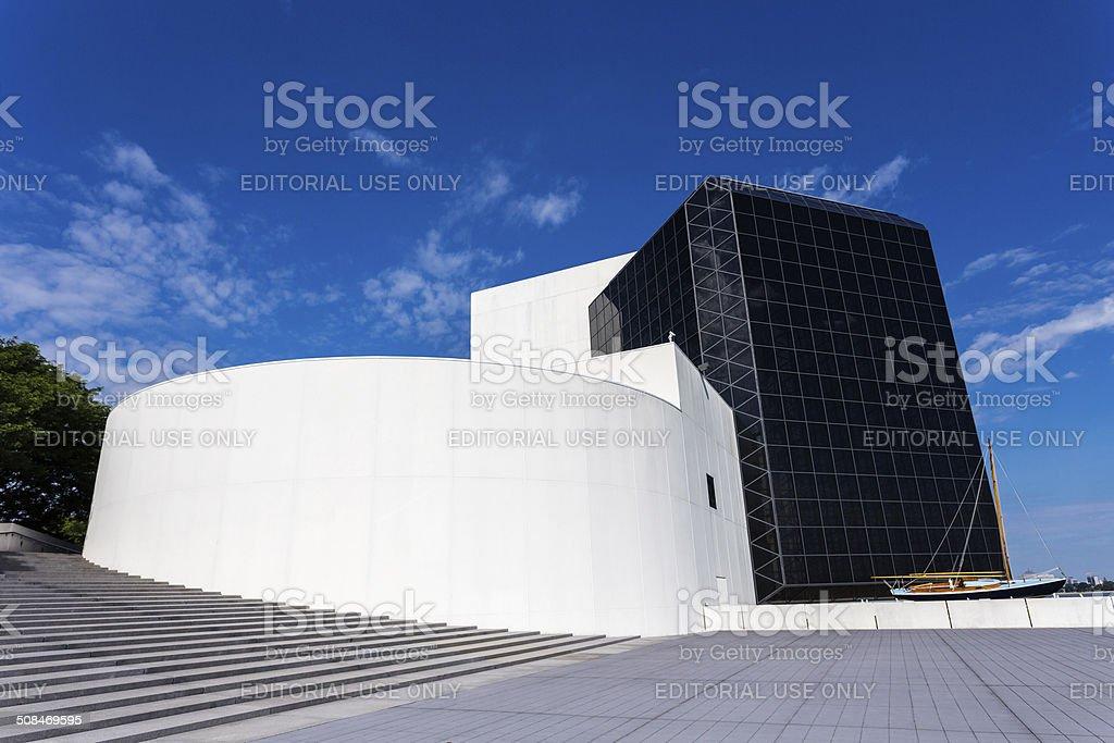 JFK Presidential Library and Museum in Boston, Massachusetts stock photo