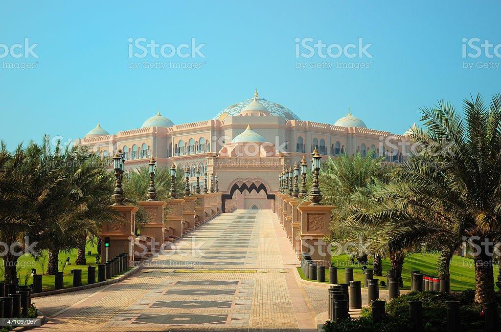 Presidential Palace Abu Dhabi stock photo