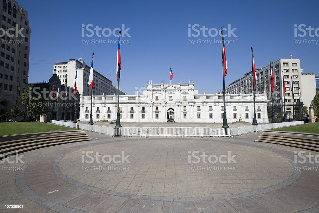Presidential Palace Chile royalty-free stock photo