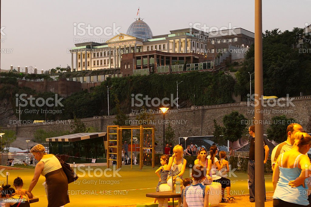 Presidential Palace in Avlabari district, Tbilisi, Georgia. royalty-free stock photo