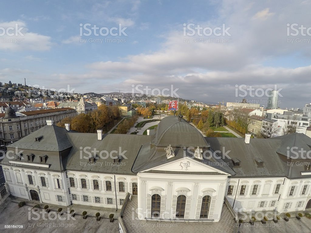 Presidential palace in Bratislava stock photo