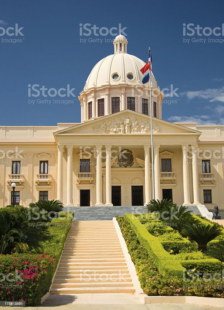 Presidential Palace in Santo Domingo, Dominican Republic royalty-free stock photo