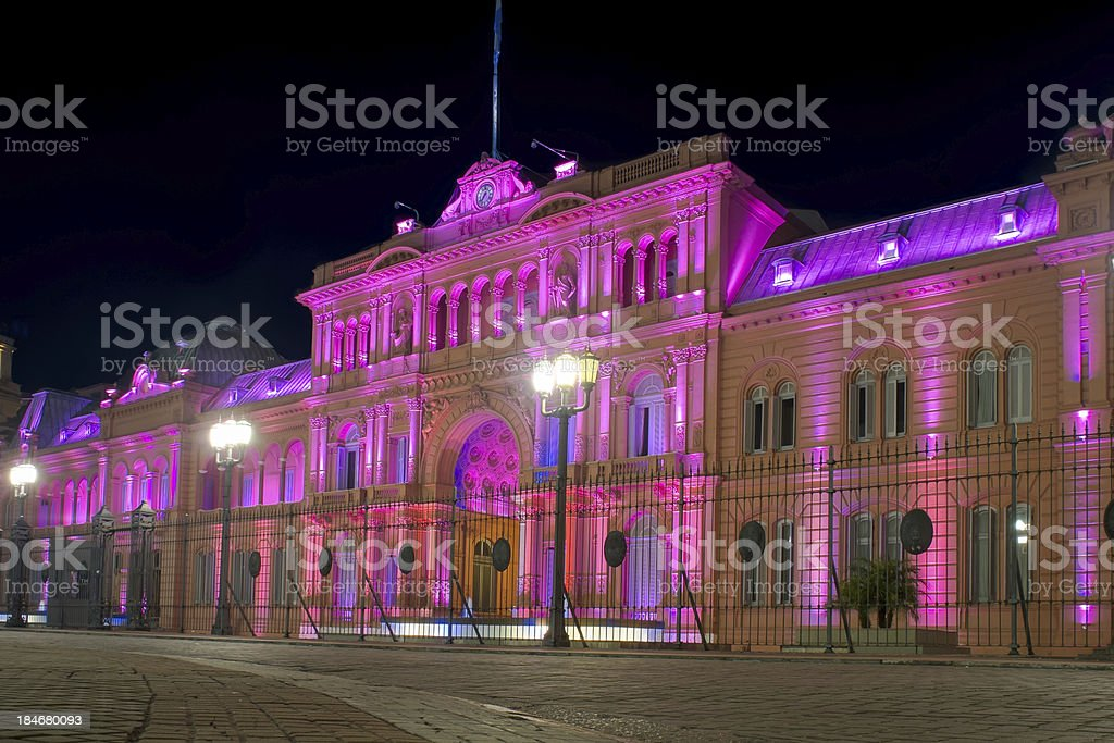 Presidential Palace of Argentina stock photo