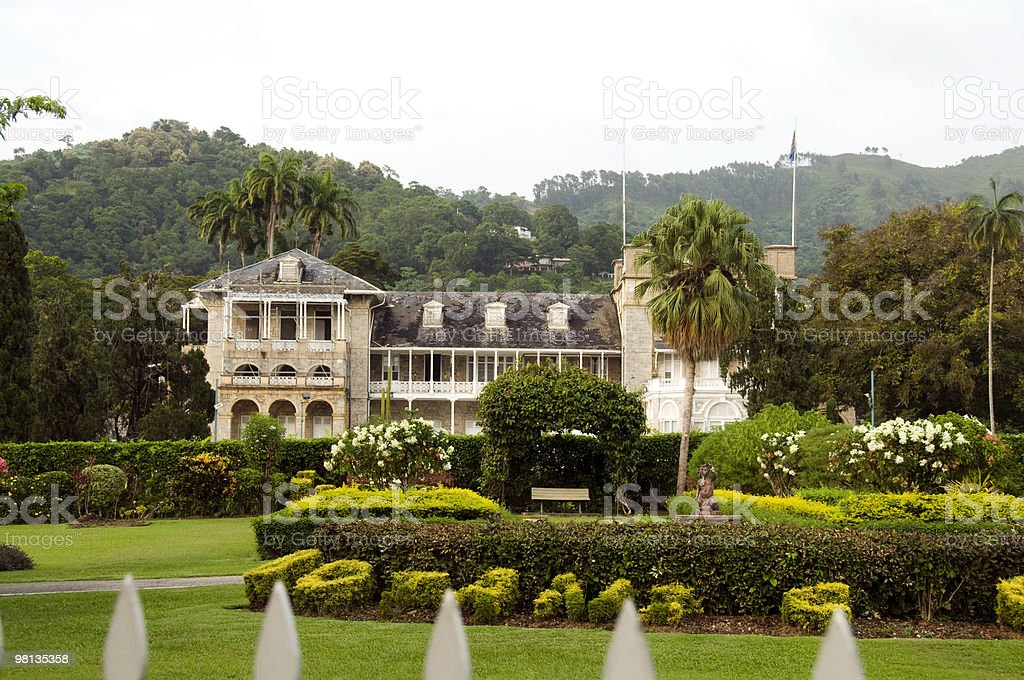 presidential palace port of spain trinidad and tobago royalty-free stock photo