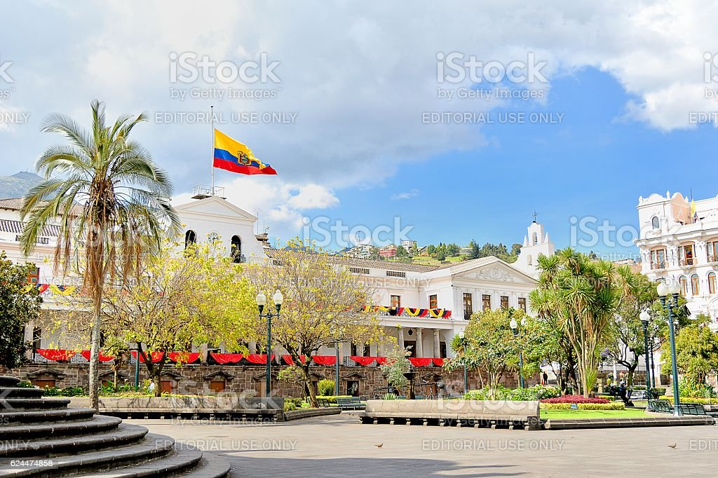 Presidential Palace (Carondelet) Quito, stock photo