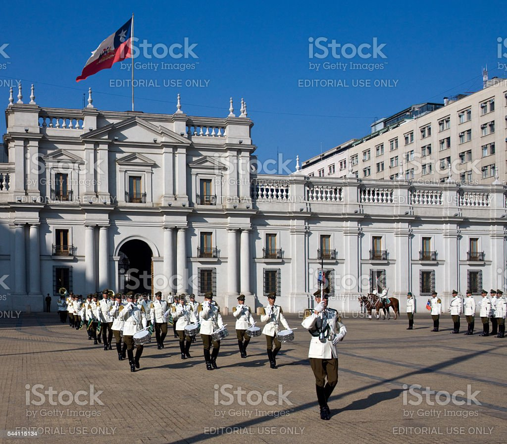 Presidential Palace - Santiago - Chile stock photo