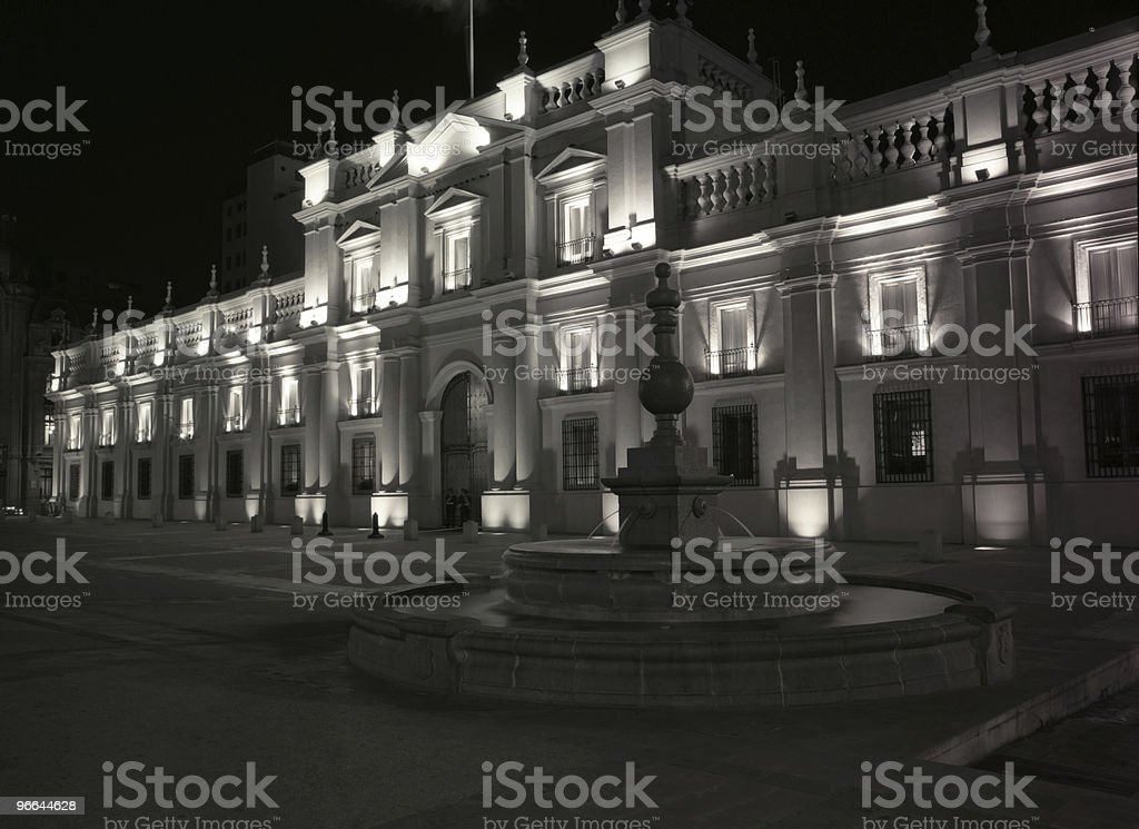 Presidential palace Santiago Chile royalty-free stock photo