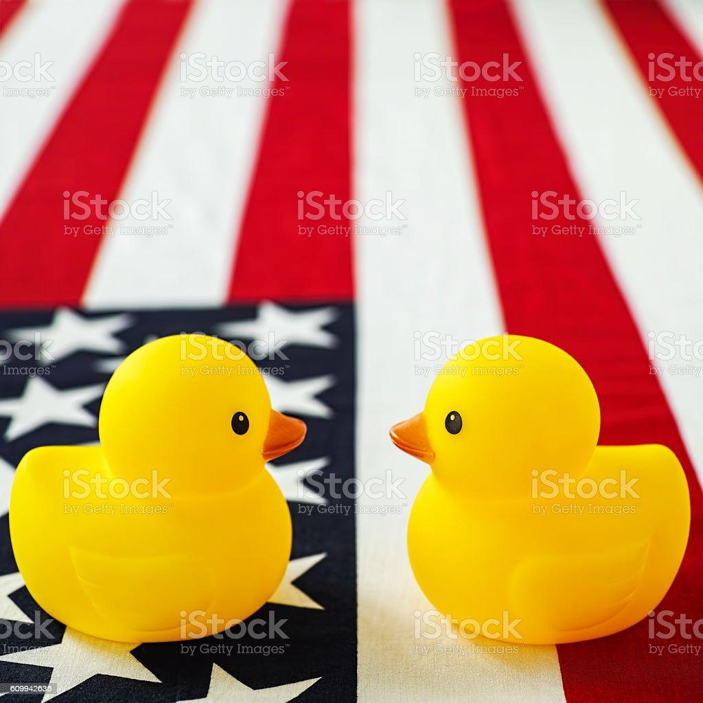 USA presidential race debate concept image. stock photo