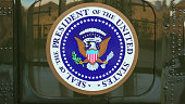 Presidential Seal on the side of Presidential Helicopter 'Marine