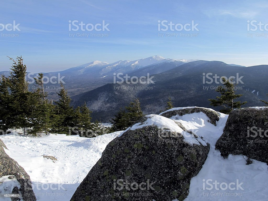 Presidentials as Seen from Mt Avalon stock photo