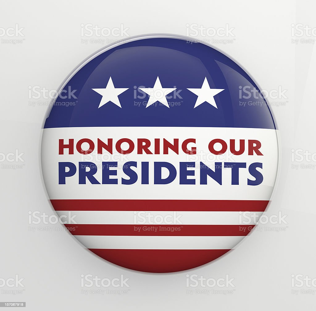 Presidents Day Button Badge stock photo