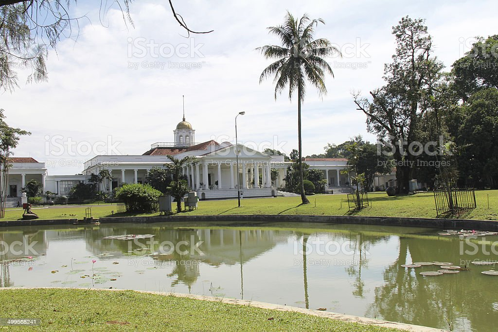 President's Palace at Bogor stock photo