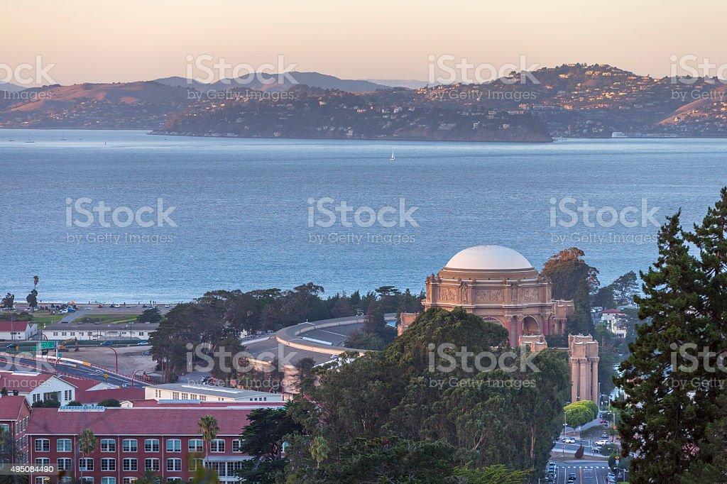 Presidio of San Francisco with Palace of Fine Arts, USA stock photo
